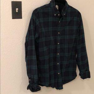 J crew flannel plaid button down shirt